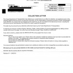 TxTag Toll Violation Collection Letter