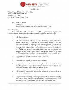 Request for Criminal Discovery in Texas _Page_1